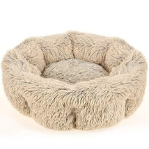 URPOWER Dog Bed, Upgraded Faux Fur Donut Cuddler Round Cushion Pet Bed for Dogs