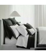 NEW Ralph Lauren Bowery King Duvet Set 2 King Shams METRO Gray 624 TC Sa... - $280.03
