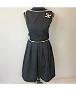 Vintage 1950s Petti Black Dragonfly Crop Top & Full Skirt 2 Pc Set size ... - $49.95