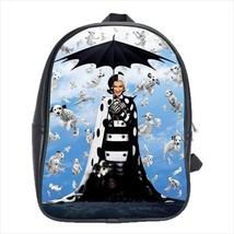 School bag cruella cruela de vil vill bookbag backpack 3 sizes - $38.00+