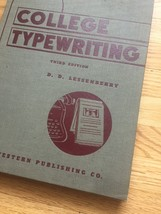 1941 College Typewriting Book - Third Edition - by D.D. Lessenberry image 3