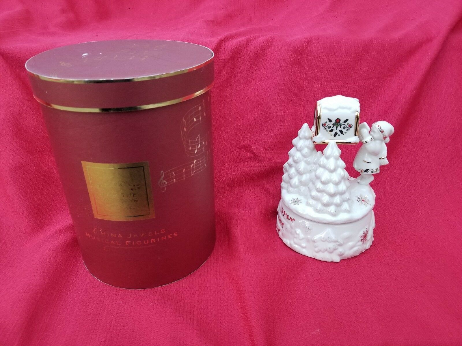 Primary image for LENOX MUSIC BOX CHINA JEWELS MUSICAL FIGURINE A LETTER TO SANTA