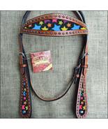 Hilason Western Horse Headstall Bridle American Leather Mahogany U-R-HS - $63.31