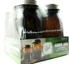 Ball Wide Mouth Quart Anti Uv Canning Mason Jars Amber Glass Jar 32oz Set Of 4 - $34.99