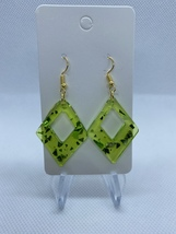 Green sparkle diamond earrings - $5.50