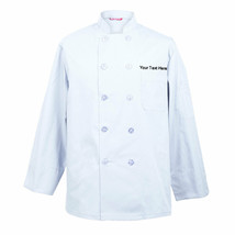 Embroidered Men's Chef Coat Chef Shirt Cook Coat Personalized with your ... - $29.98