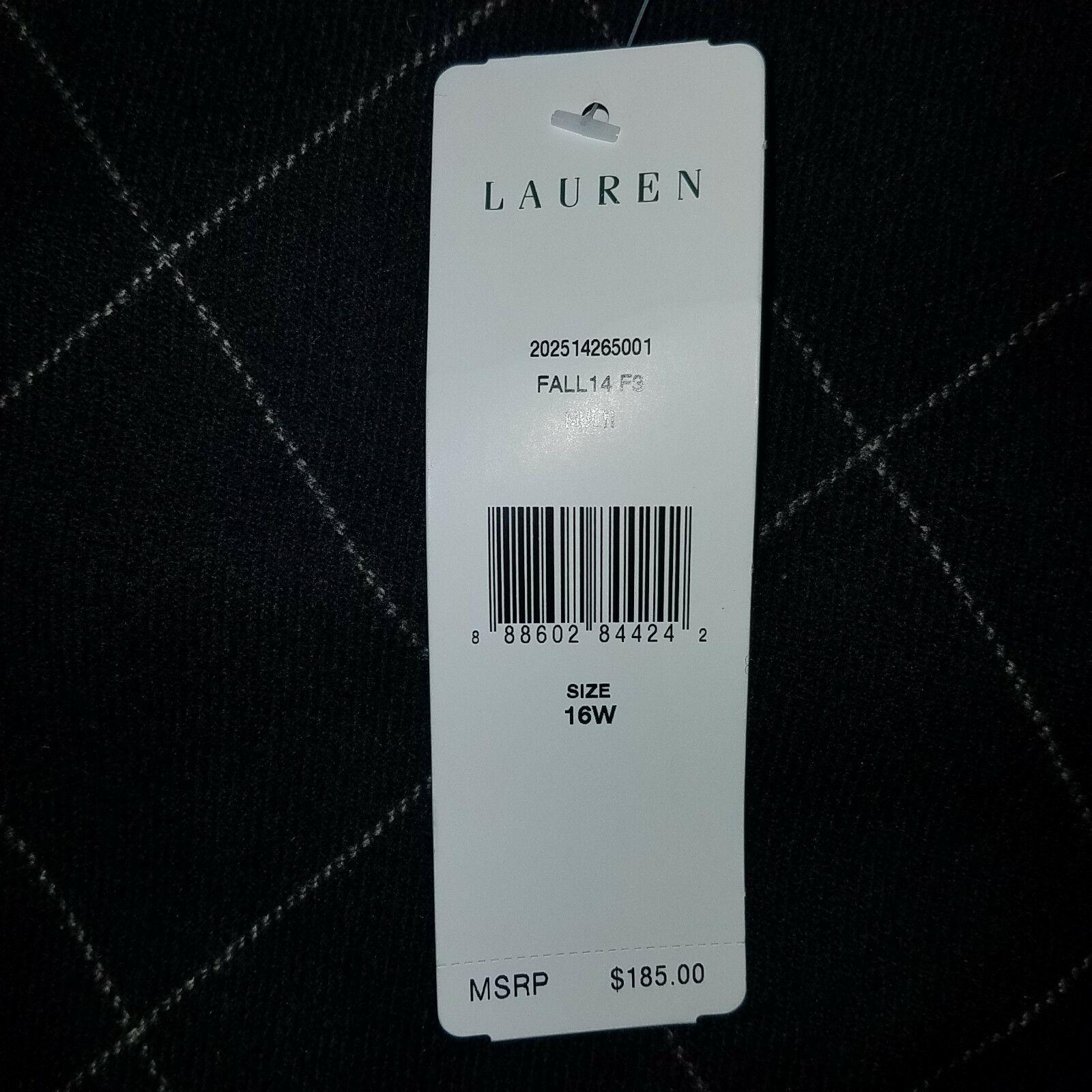 new RALPH LAUREN women sweater vest black 16W - MSRP $185 image 5