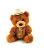 "Russ Berrie Plush Teddy Bear Cowboy Stuffed Animal 10"" #A10 - $12.86"