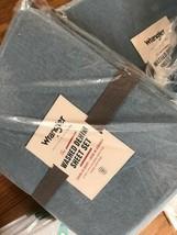 Pottery Barn Teen Wrangler Washed Denim Sheet Set Light Blue Twin XL  - $82.27