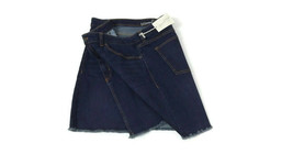 UNIVERSAL THREAD Womens Cute Denim Blue Jean Skirt Size 16 Fringed Hem NWT  - £15.91 GBP