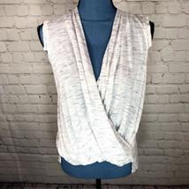 Akemi+Kin Women's Anthropologie Wrap Blouse Sleeveless Neutral Size XS - $28.46