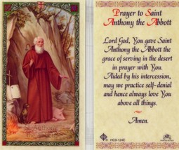 Prayer to Saint Anthony the Abbott - EB211 - Practice Self Denial Lamina... - $2.79