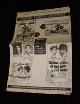 At War With The Army Ad Mat #1 Jerry Lewis Deant Martin Vintage - $16.99