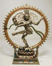 "Top Collection 10.5"" Dancing Nataraja Shiva Statue in Cold Cast Bronze- ... - $129.06"
