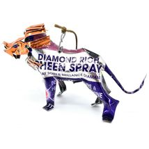 Handcrafted Recycled Aluminum Can Fair Trade Art Lion Ornament Made in Zimbabwe image 3