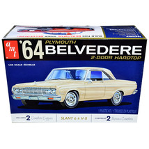 Skill 2 Model Kit 1964 Plymouth Belvedere Coupe Hardtop 1/25 Scale Model... - $45.76