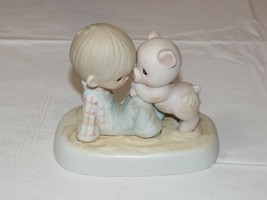 Precious Moments Jonathan & David 1982 We'Re IN It Together Figurina - $21.36