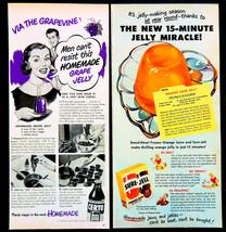 Vtg 1950's Certo Sure Jell homemade Jelly retro 2pc advertisement print ... - $9.84