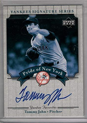 TOMMY JOHN 2003 Upper Deck Yankees Signature Series Card - Autographed