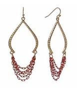 Apt 9 Gold Tone Textured Swag Chain Dangle Drop Earrings - $9.89