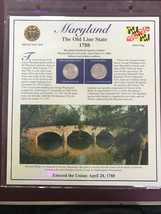 2000 Maryland Quarter P&D Mint Postal Commemorative Society - $5.79