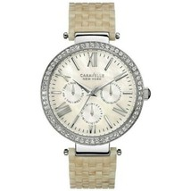 Caravelle 43N102 Women's Beige Plastic bracelet with White Analog Dial Watch - $38.35
