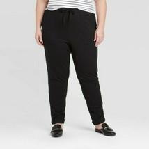 Ava & Viv NWT Pants ~ Sz 2X (20W/22W) ~Black ~Straight Leg Ankle ~ Elast... - $25.73