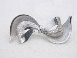 Vtg .925 Sterling Silver Carl Art Bow Brooch Pin - $39.60