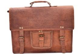 New Men's 100% Real Vintage Soft Leather Look Office Formal Messenger Br... - $65.94