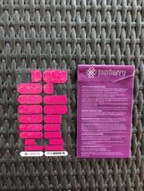 Jamberry Metallic  Silver Floral On Magenta Almost Full Sheet image 3