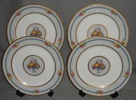 Set (4) Charles Ahrenfeldt DINNER PLATES - FRUIT BASKET PATTERN Limoges ... - $79.19