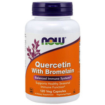 Now Foods Quercetin with Bromelain 120 Caps 800mg and 2400GDU - $19.74
