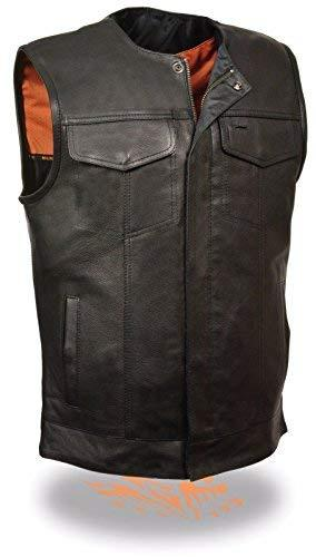 Primary image for Milwaukee MEN'S MOTORCYCLE SON OF ANARCHY STYLE BUTTER SOFT LEATHER VEST W/O COL