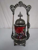 Antique Victorian PICKLE CASTOR, Webster & Sons #59, Quadruple Silver Pl... - $1,050.00