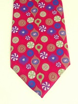 Hallmark Holiday Tradition by MMG Christmas Ornaments Tie Red w/ Multico... - $16.93