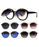 Flip Up Retro Round Vintage Style Plastic Party Shade Sunglasses - $14.95