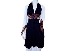 CARMEN MARC VALVO Swimwear HALTER Leopard DRESS Summer S M FREE SHIPPING... - $129.97