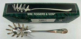 Vintage 1997 WM. Rogers Son Silverplated 10 5/8 in Spaghetti Server #001... - $22.76