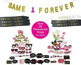 Bachelorette Party Supplies, Banner, Over 60 Photo Props, Bridal Party S... - $16.03