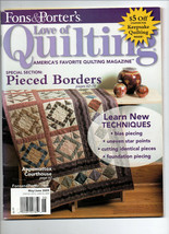 2009 May-June/Fon's & Porter's Love of Quilting/Preowned Magazine - $3.99