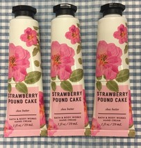Bath & Body Works STRAWBERRY POUND CAKE 1 oz. Hand Cream Pack Of 3 NEW - $13.76