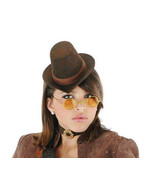 Female SteamPunk Costume Kit with Hat Glasses and Choker NEW UNUSED - $15.47
