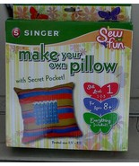 BRAND NEW IN BOX Sew Fun Make Your Own Pillow With Secret Pocket Kit, BR... - $14.84