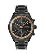 BOSS Hugo Boss 1513578 Grand Prix Black and Copper Chronograph Mens Watch - $135.53