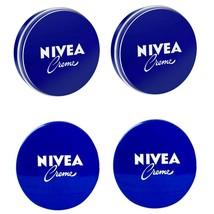 4 Can of 60 mL/ 2 Oz NIVEA CREAM Original Skin Hand CREME moisturizer Metal Tin  - $11.26