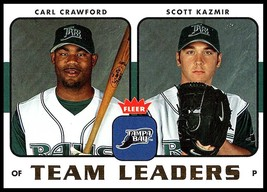 2006 Fleer Team Leaders #TL-26 Carl Crawford/Scott Kazmir NM-MT Devil Rays - $1.99
