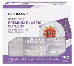 Highmark Office Depot Full Length Utensils, Clear, Pack of 150, 11595 image 2