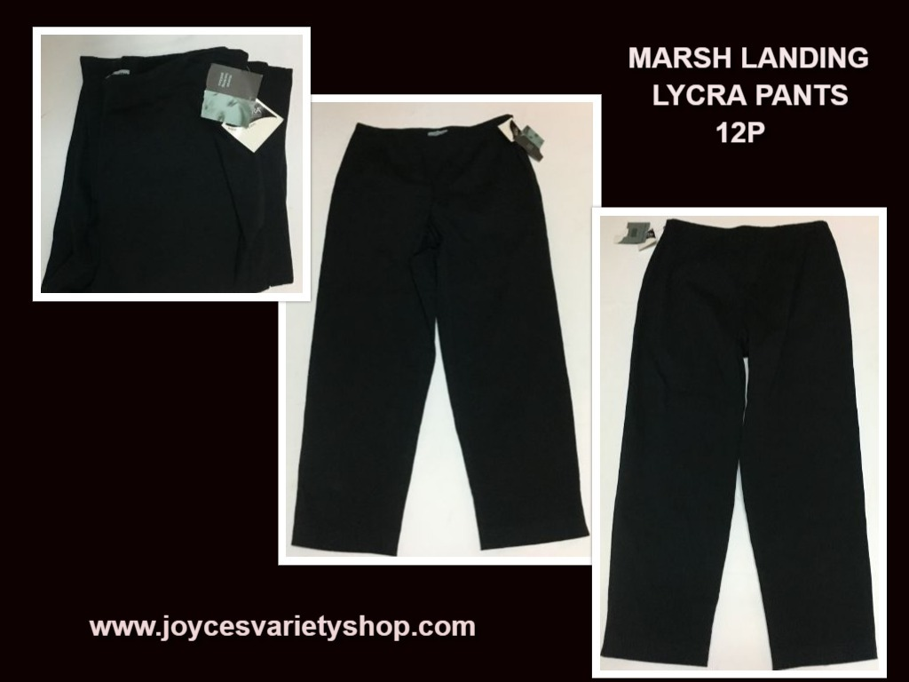 Marsh landing lycra black pants 12p web collage