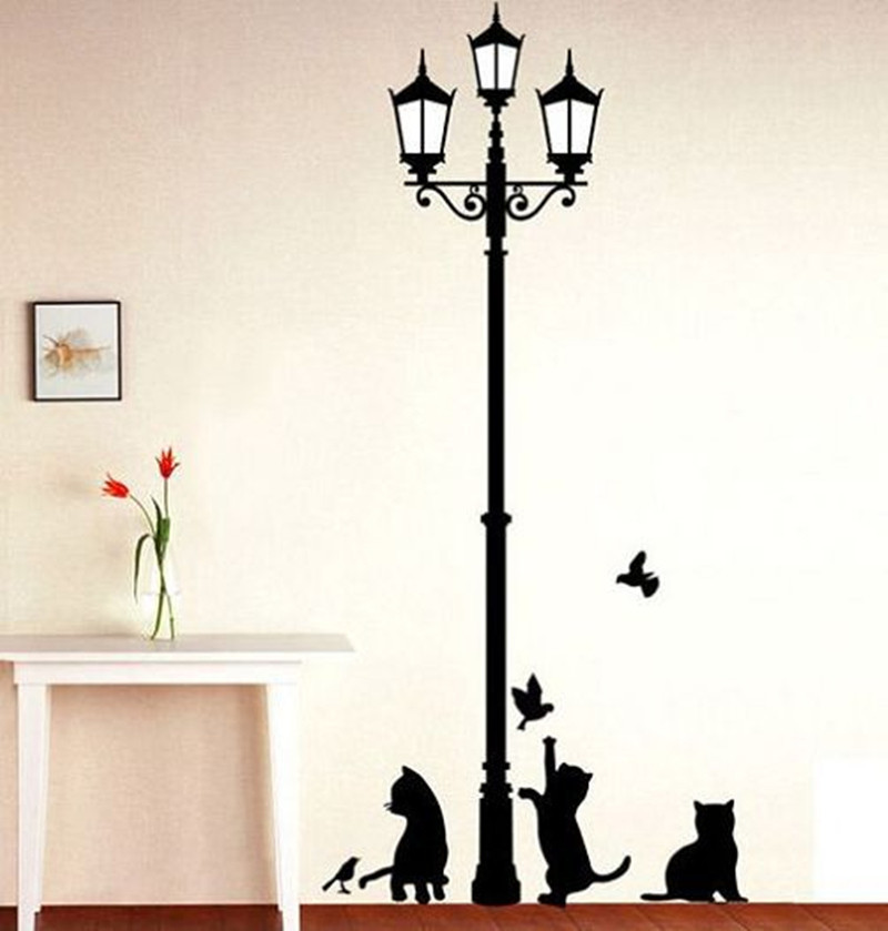Primary image for Popular Aciet Lamp Cats Birds Wall sticker Wall Mural s Wallpaper