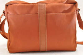 HERMES Acapulco Besace Coton Leather Orange Shoulder Bag Auth 5186 image 3